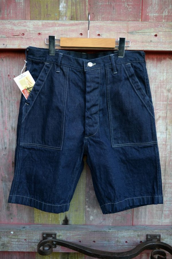 画像1: 【 DELUXEWARE DX100B DENIM SHORT BOTTOM (インディゴ)】
